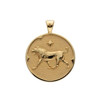 LEO JW Zodiac Pendant Coin - Jul 23 - Aug 22