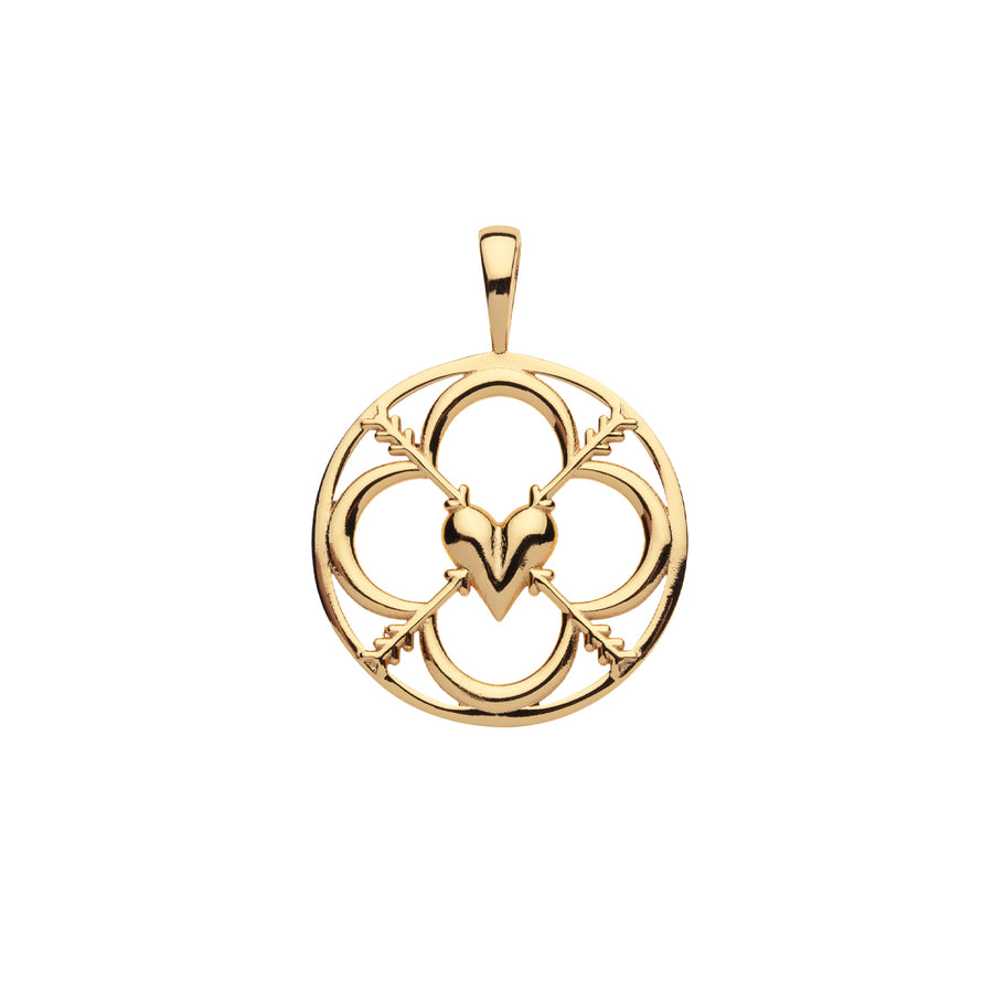 LOVE JW Cutout Pendant Coin