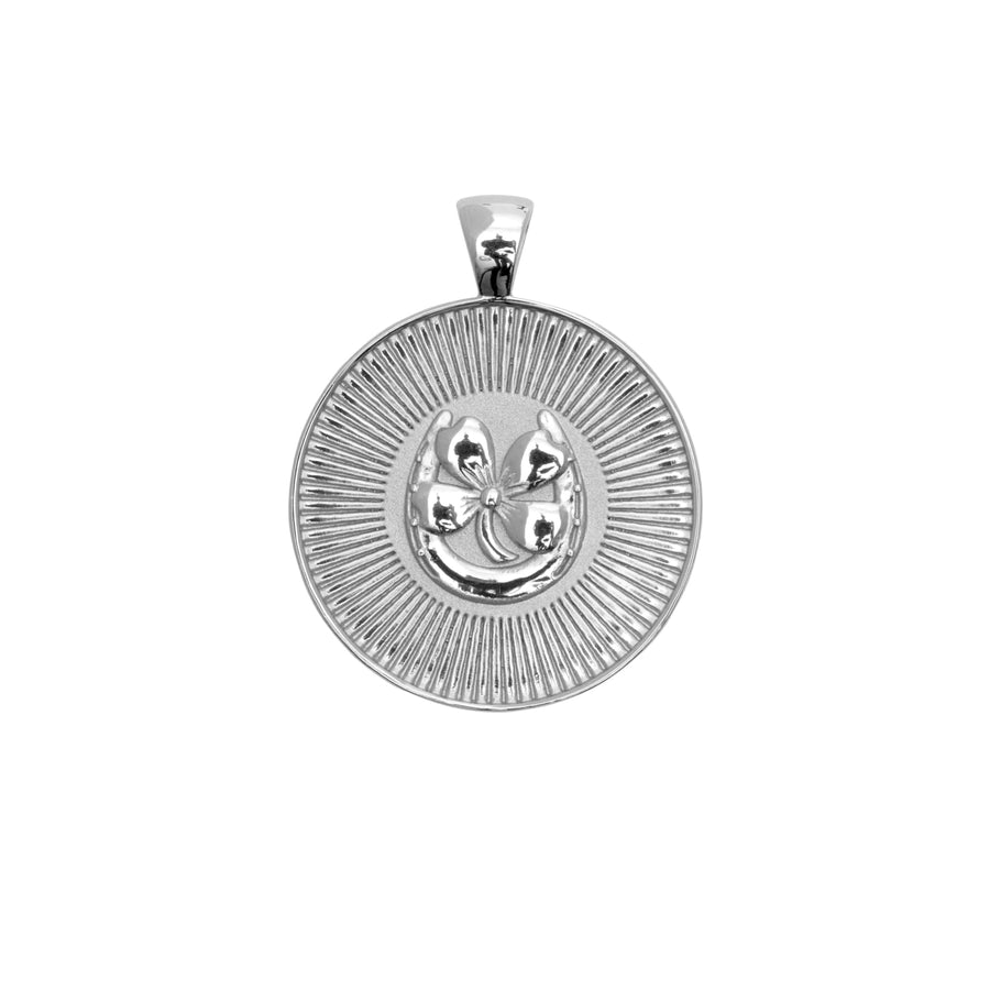 LUCKY JW Original Pendant Coin in Silver