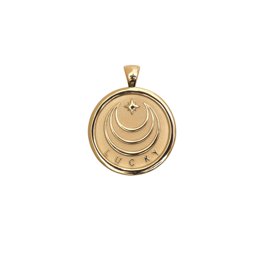 LUCKY JW Small Pendant Coin