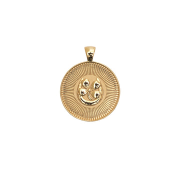 LUCKY JW Small Pendant Coin in Solid Gold