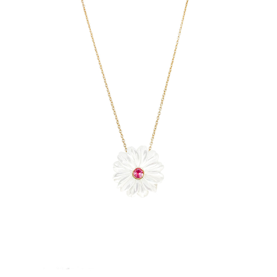 JOY Mother of Pearl Daisy Chain Necklace