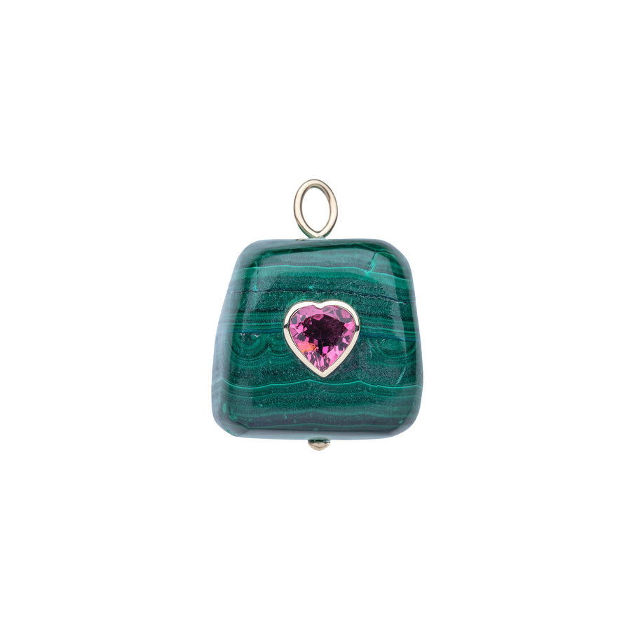 LOVE Malachite Wishing Stone in 14k