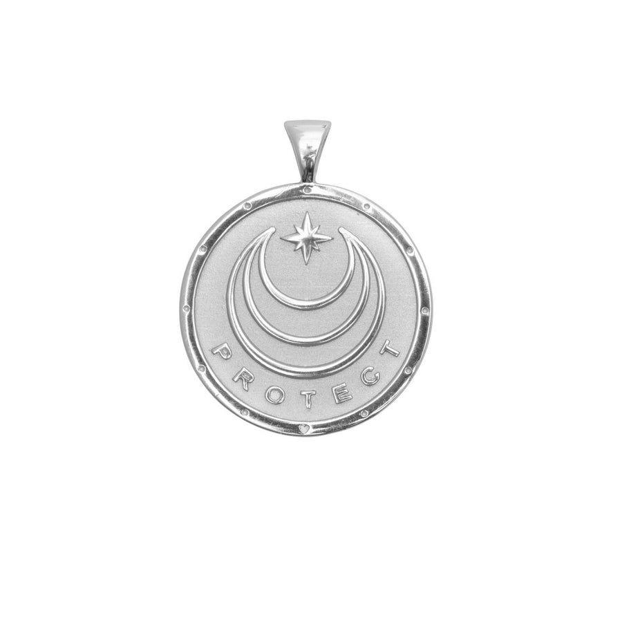 PROTECT JW Original Pendant Coin in Silver