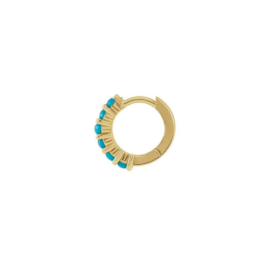 JOY Turquoise Huggie Hoop Earrings
