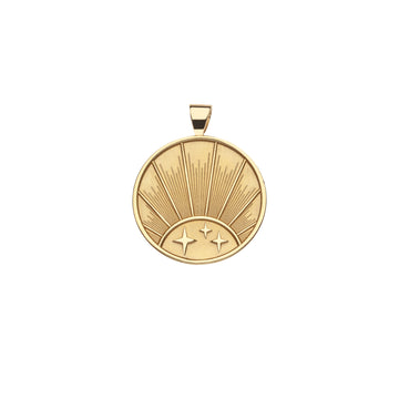 STRONG JW Small Pendant Coin (Rising Sun)