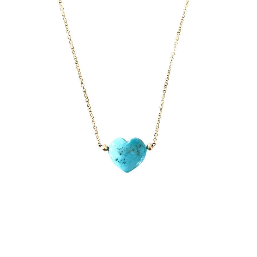 LOVE Heart Bubble Pendant in Turquoise