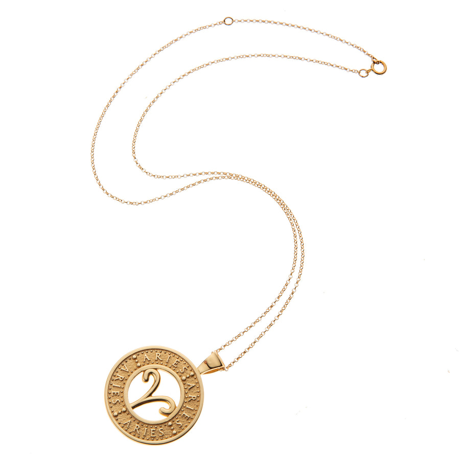 ARIES JW Zodiac Pendant Coin - Mar 21 - Apr 19