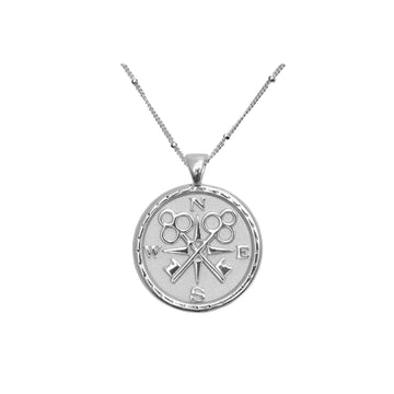 FOREVER JW Small Pendant Coin in Silver