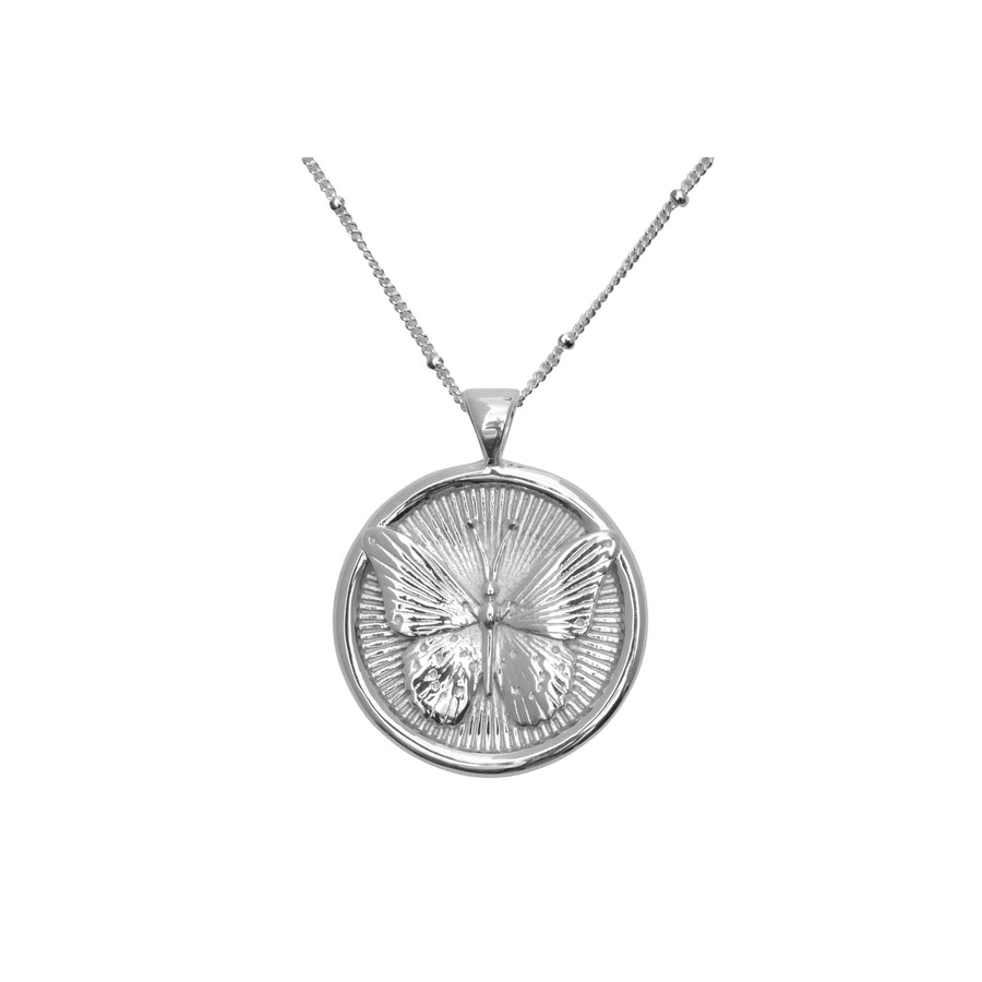 FREE JW Small Pendant Coin in Silver