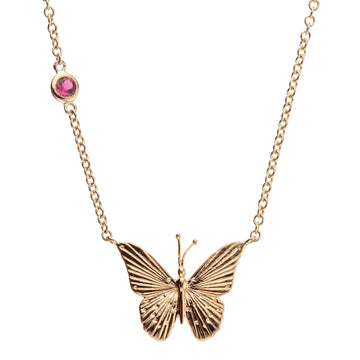FREEDOM Butterfly Pendant 10k Gold
