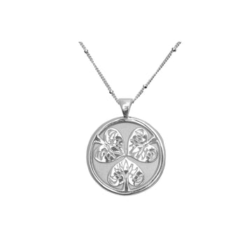 JOY JW Small Pendant Coin in Silver