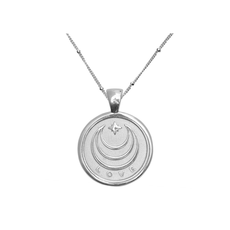 LOVE JW Small Pendant Coin in Silver