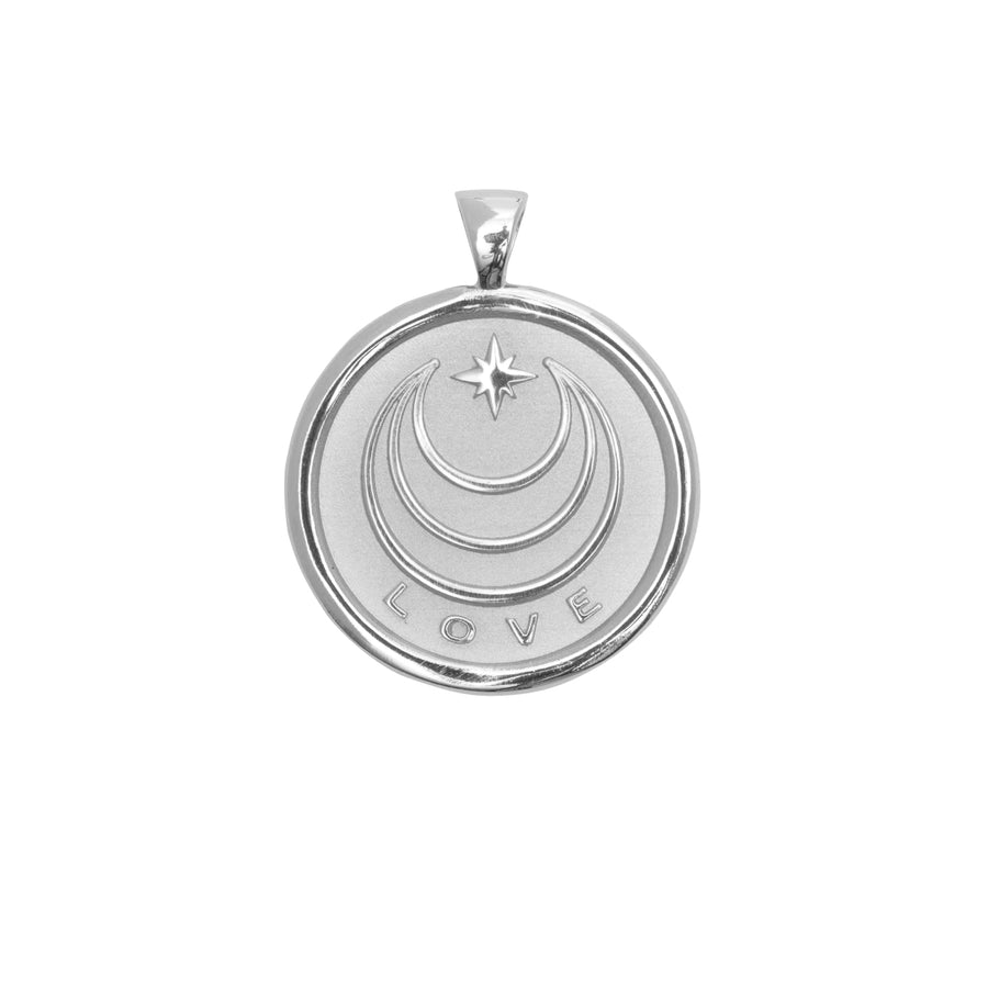 LOVE JW Original Pendant Coin in Silver
