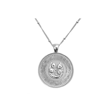 LUCKY JW Small Pendant Coin in Silver