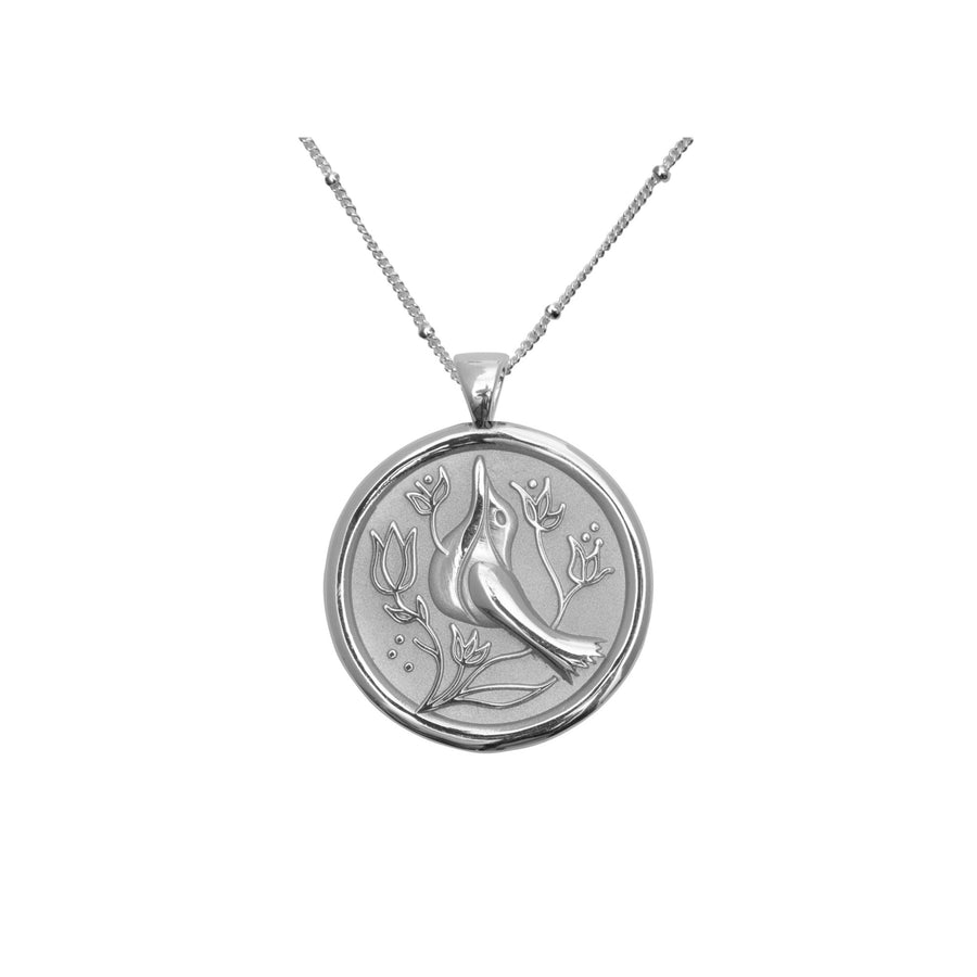 PEACE JW Small Pendant Coin in Silver