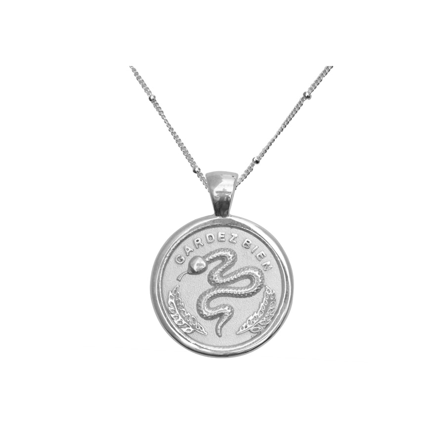 PROTECT JW Small Pendant Coin in Silver
