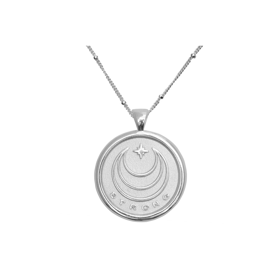 STRONG JW Small Pendant Coin in Silver