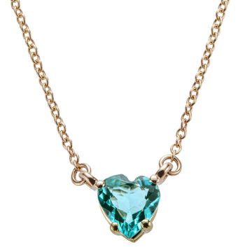 LOVE Petite Tourmaline Heart Pendant 14k Gold Limited Edition