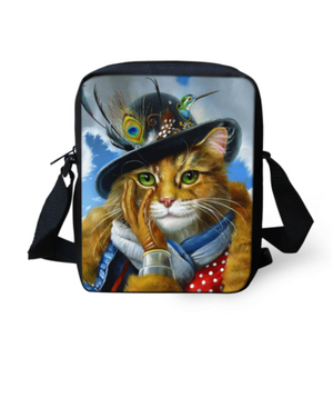 3d Cat Schoolbag for Kindergarten Baby Kids Mini Toddler Girls Shoulder Book Bags