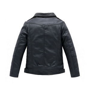 Children PU Leather Jacket Boys Autumn  Coat Girls Spring Jacket Children Outerwear 3T-14T