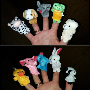 10 Pcs/ Lot Baby Toys The Parent-child Game Props Teaching Props Double Cloth Dolls  Animal