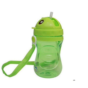 400ml 2016 PP Plastic Infant Straw Cup Drinking Bottle Cups With Handles