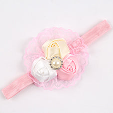 Girls Headwear Retail new fashion Hair Bands Lace mix 3 Rose