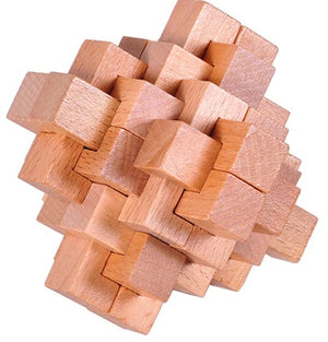 Classic IQ Wooden Puzzle Mind Brain Teasers Burr Puzzles Game Toys for Adults Children
