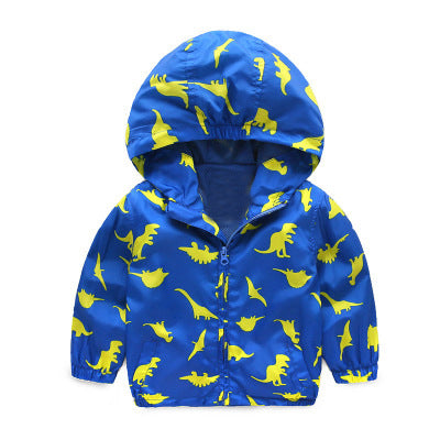 Baby Boys Jackets Children Hooded Printed Boys Outerwear 2-6T Kids Windbreaker Spring Autumn