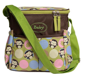 Baby Backpack Maternity Mummy Mother Stroller Diaper Bag One-shoulder Floral Nylon Travel Nappy Bags