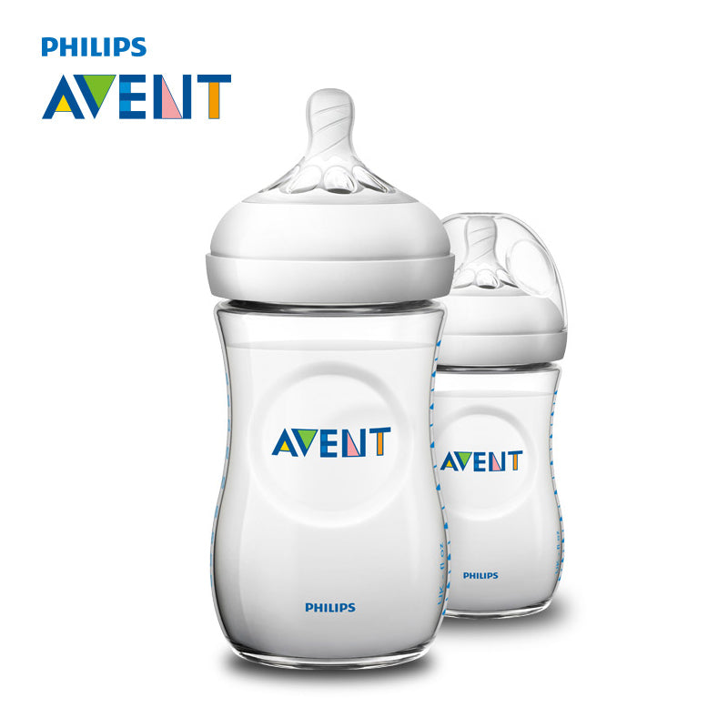 AVENT 2pcs BPA Free Natural Polypropylene Bottle 260ml Infant Mamadeiras Juice Milk Water