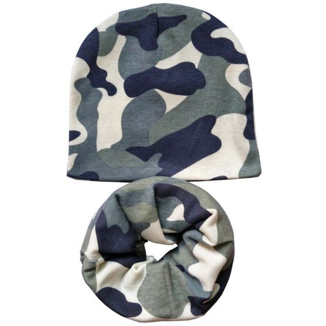 1 Set Autumn Winter Baby Hat Boys Cap Baby Girls hat Scarf