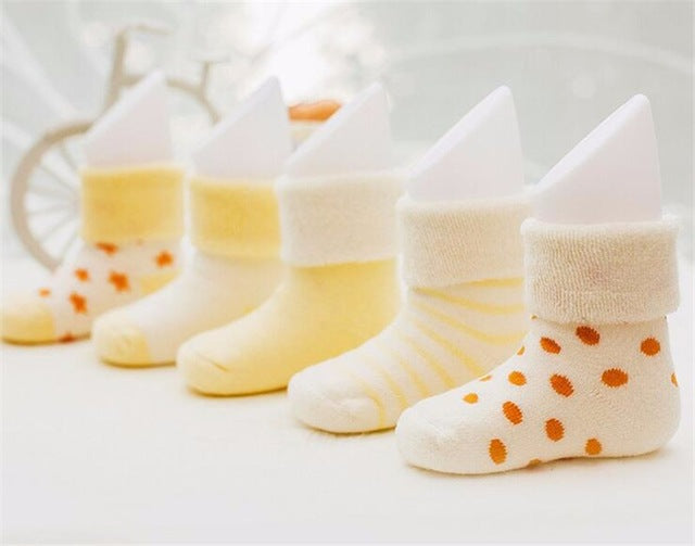 5 Pairs/Lot Baby Socks Calcetines Baby Boy Socks	 Newborn Winter Cotton Girl Warm Sock