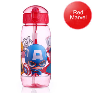 Baby Feeding Bottle with straw Cartoon 400ML