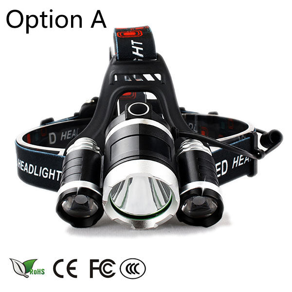 Headlight 12000 Lumen  headlamp 5 Chip XM-L T6 /Q5 LED Head Lamp Flashlight