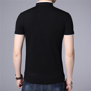Summer New Top Men Brand Clothing Slim Fit Cotton T-Shirts S7645