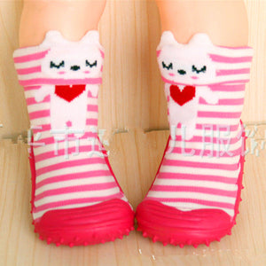 1Pair Cotton Cute Design Animal Image Baby Socks