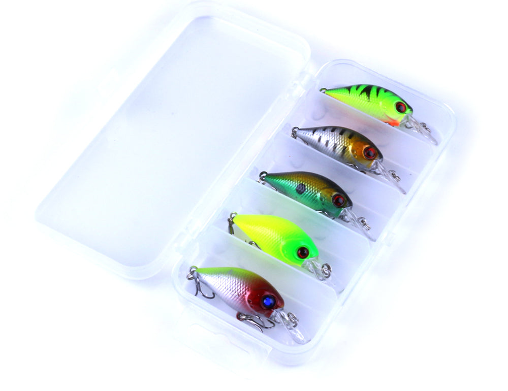 5pc 4.2g Fishing Lure Kit Minnow floating Lure Isca Crankbait Bait Pesca Jig Fishing Hook