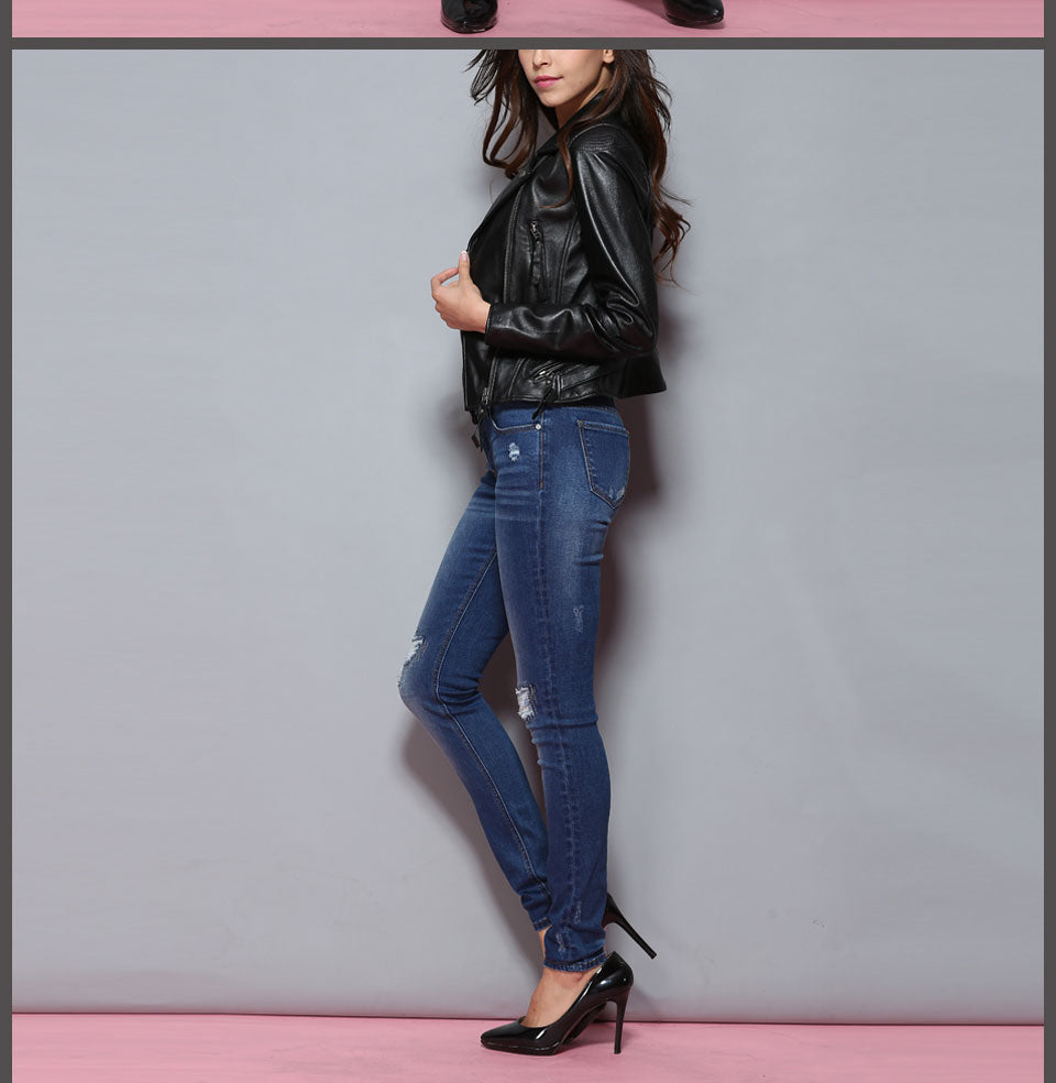 Jeans Women Jeans Woman Jeans For Girls Stretch Mid Waist Skinny Jeans Female Pants