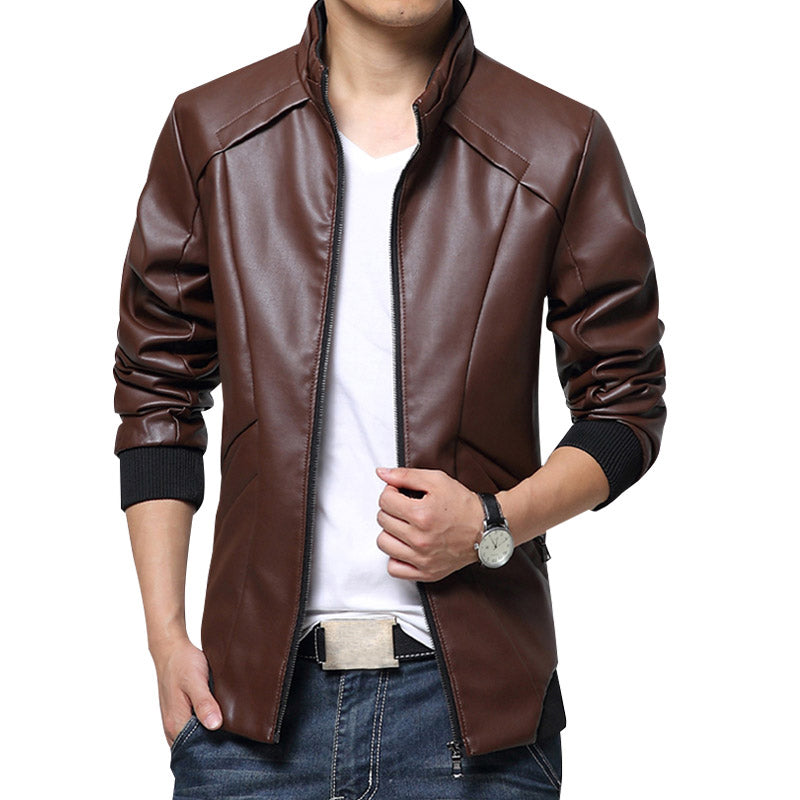 Jacket Men Fashion Casual Coats Overcoats Zipper Clothing Jacket M~5XL  MWP442