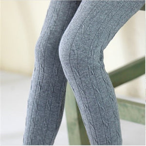 kids Girl leggings Autumn Winter Knitted Outfit Girls Pants Legging Children Girls Warm Wear 3-11Y