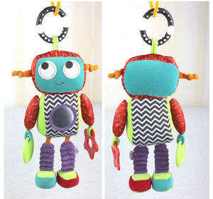 1pcs Baby brand Activity Toys Robot style rattle music comforter toy baby toy rattles children 26c