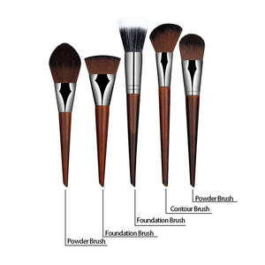 5pcs/set Pro Foundation Powder Makeup Brushes