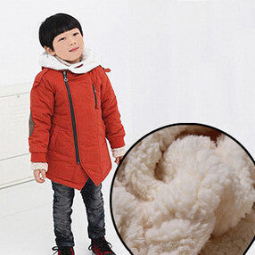Boy Jackets Cotton Cashmere Warm Hooded Kids Thick Fur Coats Outwear Children's Boys Winter Clothes