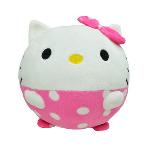 Cartoon Baby rattle mobile Soft ball tiger kitty plush stuffed ring bell toy toddler newborn