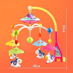 Baby Crib Toy 0-12 Months For Newborn Mobile Musical Bed Bell With Animal Rattles