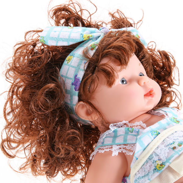 Cute Simulation Baby Doll Soft Vinyl Silicone Lifelike Doll Toy Lovely Speaking Sound Kids Girls