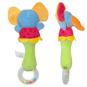 Baby Rattle Toys Animal Hand Bells Plush Baby Toy High Quality Newbron Gift Christmas Animal