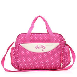 5 Pieces Multifunctional Large Capacity Mother Diaper Bag For Babies Traveling Bag